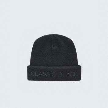 Classic Black Wool Beanie by Alexander Wang
