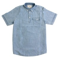 Roy S/S Shirt in Indigo Bleached by Carhartt WIP