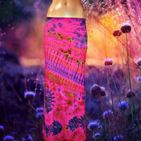 Wildflower Tie Dyed Maxi Skirt **Only one available**