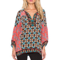 women neck tie paisley pattern V neck blouses fashion floral print streetwear long lantern sleeve loose sunmmer tops