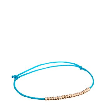 Boutique By Jamie Beaded Festival Blue String Bracelet
