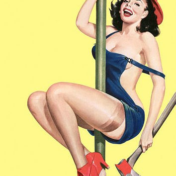 Pinup Poster Pinup Firegirl With Axe