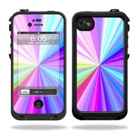 Mightyskins Protective Vinyl Skin Decal Cover for LifeProof iPhone 4 / 4S Case wrap sticker skins Rainbow Zoom