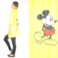 MICKEY MOUSE disney hooded RAINCOAT cape poncho, extra small-small