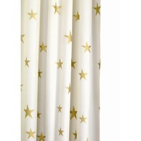 Croydex Shimmer Gold Stars Fabric Shower Curtain