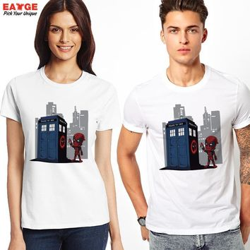 "Deadpool ""Meets Dr. Who"" Fashion Shirt"