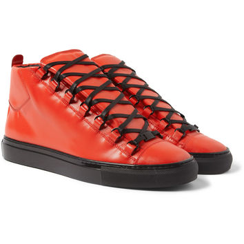 Balenciaga - Arena Embossed-Leather High-Top Sneakers | MR PORTER