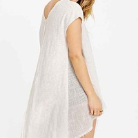 Ecote Woven Inset V-Neck Tunic Top-