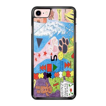 Ed Sheeran Tattoos Drawing iPhone 7 Case