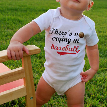 There's NO CRYING in BASEBALL Baby Bodysuits Tees by MyLucysLoft2