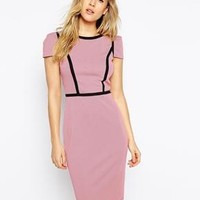 Paper Dolls | Paper Dolls Textured Pencil Dress With Panelling at ASOS
