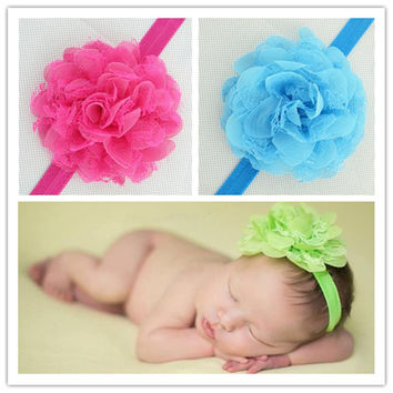 Baby Flower Hair Bow Band