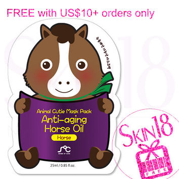 Freebies for US$10+order ONLY - SOC Animal Cutie Mask Pack Anti-aging Horse Oil Horse   *exp.date 03/18*