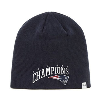 NFL New England Patriots '47 Brand 2014 AFC Conference Champions Knit Beanie (Navy, One Size)