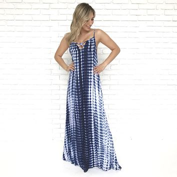 Crashing Waves Maxi Dress