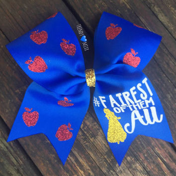 Snow white cheer bow