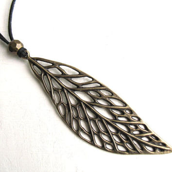 Boho spring leaf, trendy leaf necklace, autumn jewelry, nature jewelry, best friend, 5 year gift men, art nouveau jewelry, boho men necklace