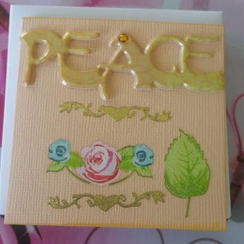 Birthday Card Peace - Handmade Cards - Any occasion cards - Made in Australia - unique cards  -  Mini Cards