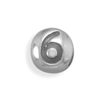 "Oxidized Number ""6"" Bead"