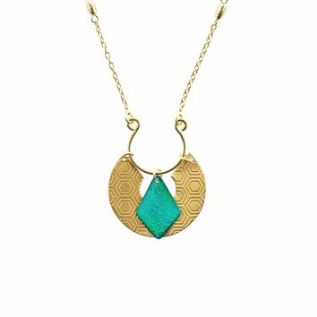 Jaladhi Necklace - Honeycomb - Matr Boomie (Jewelry)