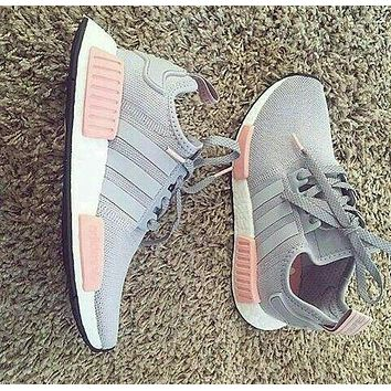 """simpleclothesv :""""Adidas"""" NMD Women Fashion Trending Running Sports Shoes Sneakers"""