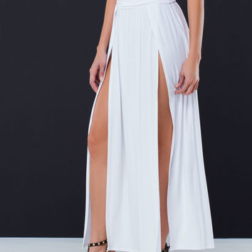 Goddess Curves Double Slit Skirt GoJane.com