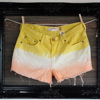 Vintage dyed Levi denim shorts by VagrantVintageCo on Etsy