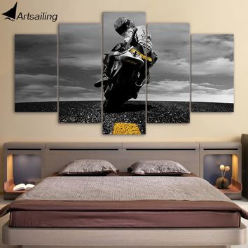 5 Piece Canvas Art Motorcycle poster Painting Framed Wall Art Canvas Wall Pictures for Living Room Modular pictures ny-6625A