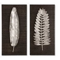 Uttermost Silver Leaves Wall Art