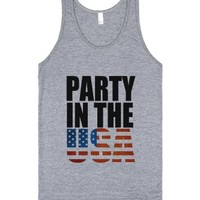 Party In The Usa!-Unisex Athletic Grey Tank