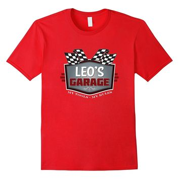 Leo's Garage T-shirt Funny Car Guy - My Tools My Rules