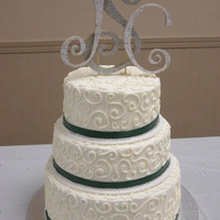 Custom Initial Wedding Cake Topper. Customize With Initials of Bride and Groom.