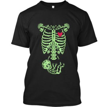 Pregnancy Halloween Costume Mexican Day Of The Dead  Custom Ultra Cotton