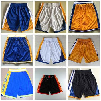 Golden State Men 35 Kevin Durant Basketball Shorts Chinese Cheap 23 Draymond Green Short Pant Breathable All Stitched Team Blue White Black