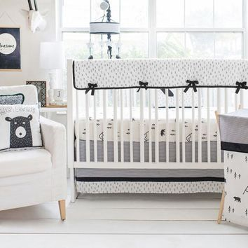 Little Black Bear | Crib Bedding Set