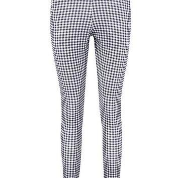 Catarina Monochrome Gingham Skinny Trousers | Boohoo