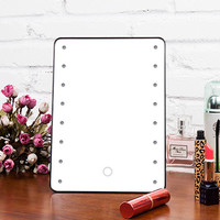 Adjustable TouchScreen Vanity Tabletop Countertop Mirror Make-up Cosmetic Mirror 16 LEDs beauty FREE SHIPPING