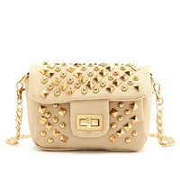 Studded Chain-Strap Cross-Body Bag: Charlotte Russe