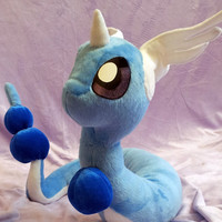 Pokemon inspired Dragonair Hakuryu dragon (135 cm long) plushie made of minky, poseable and super cuddly!
