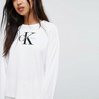 Calvin Klein Jeans Long Sleeve Top at asos.com