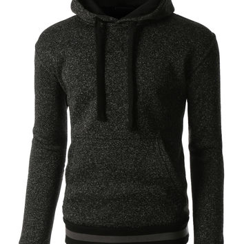 LE3NO Mens Soft Fleece Long Sleeve Pullover Hoodie Sweatshirt (CLEARANCE)