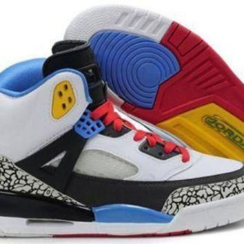 Cheap Air Jordan 3.5 Spizike Retro Men Shoes White Blue