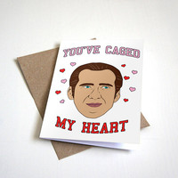 You've Caged My Heart - Funny Valentine's Card - Meme Card - Celeb Card - Internet Meme Card 4.5X6.25 Inch card