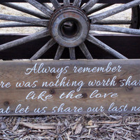 Always Remember Sign Pallet Sign Rustic Sign Wedding Anniversary Beach Sign Shabby Chic Phrase Sign Vintage Barnboard Sign