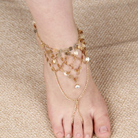 Sexy Ladies Cute New Arrival Jewelry Shiny Stylish Gift Vintage Yoga Tassels Anklet [7241003335]