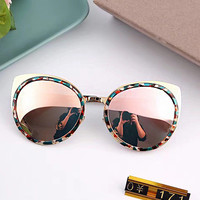 Stylish Vintage Strong Character Glasses Mirror Sunglasses [10155808711]