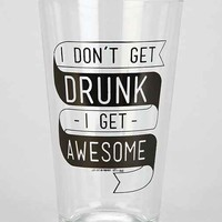 Get Awesome Pint Glass- Black & White One