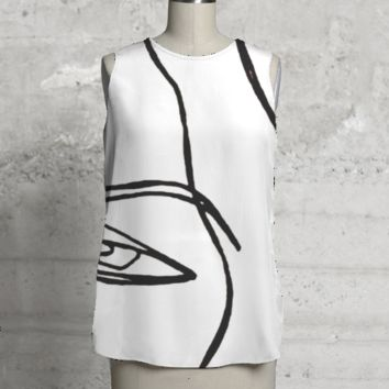 EVIL EYE SLEEVELESS TOP