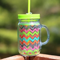 Rainbow Brite Chevron Beach Mug