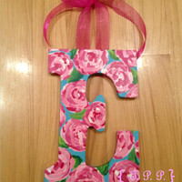 Lilly Pulitzer-esque Custom Hand Painted Initial